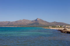 Mallorca coast. North coast view of Mallorca island, Spain Stock Image