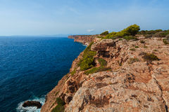 Mallorca coast. Panorama view landscape Royalty Free Stock Photos
