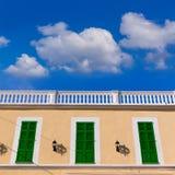 Mallorca Colonia Sant Jordi Balearic facade Royalty Free Stock Image