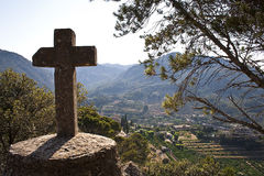 Mallorca cross. Cross at the Sierra de Tramuntana Stock Images
