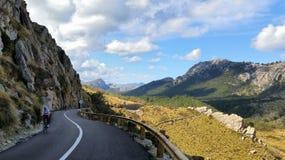 Mallorca. Cycling in Mallorca stock photo