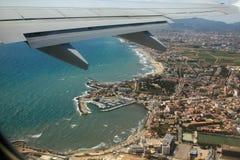 Mallorca debajo del ala Fotos de archivo libres de regalías