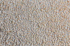 Mallorca detail of rolling stones flooring Royalty Free Stock Photo