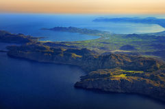 Mallorca east. Aerial view of eastern coast of Mallorca Royalty Free Stock Photo