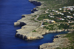 Mallorca east. Aerial view of some houses on Menorca Stock Photos