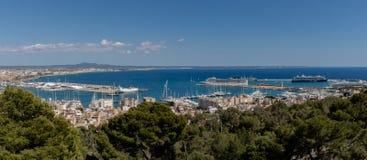 Mallorca, Espanha; 22 de março de 2018: vistas do mallo de Palma del Arenal imagens de stock
