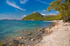 Mallorca Formentor beach. The beautiful Formentor beach in summer - Mallorca (Majorca) island Royalty Free Stock Image