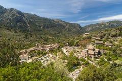 Mallorca, Fornalutx. A beautifull small city under the mountain near Port de Sóler royalty free stock photo