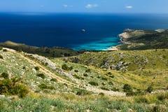 Mallorca - fugas biking em Serra de Llevant imagem de stock