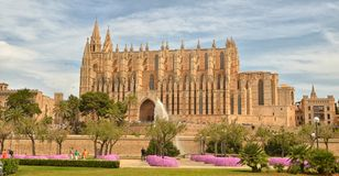 Mallorca. Gothic medieval cathedral of Palma de Mallorca, Spain. La Seu, Gothic medieval cathedral of Palma de Mallorca, Spain. Mallorca Royalty Free Stock Photography
