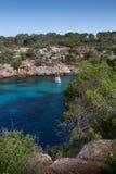 Mallorca, Hiszpania; Marzec 17, 2018: Widoki Mallorca ` s pi zatoczka zdjęcie royalty free