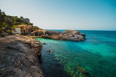 Mallorca Island is the largest of the Balearic Islands. Which belongs to Spain. You will find many sandy beaches and a pleasant Mediterranean climate that is Royalty Free Stock Photo