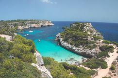 Mallorca Island is the largest of the Balearic Islands. Which belongs to Spain. You will find many sandy beaches and a pleasant Mediterranean climate that is Stock Photos