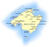 Mallorca-Karte Lizenzfreie Stockfotografie