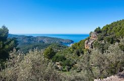 Mallorca landscape October. Natural beautiful landscape in October in Mallorca, Spain Stock Photography