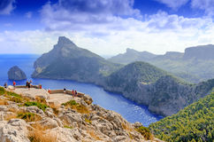 Mallorca landscape. Vacations at Spain: Mallorca landscape and view to Cape Formentor Royalty Free Stock Photo