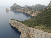 Mallorca landscape. View from Cap Formentor in Mallorca Royalty Free Stock Photos
