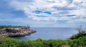 Mallorca - Lighthouse at Cala Figuera. On of the most impressive harbor situation Stock Photo