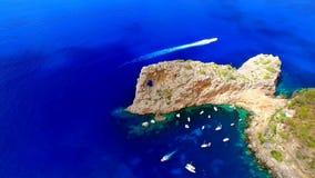Mallorca (Majorca) is één van de Balearen van Spanje in het Middellandse-Zeegebied royalty-vrije stock afbeeldingen