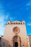Palma, Mallorca, Majorca, Balearic Islands, Spain, church, details, rose window, decoration, Basilica of St. Francis. The Basilica of St. Francis in Palma on Royalty Free Stock Images