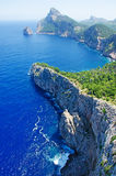 Mallorca, Majorca, Balearic Islands, Spain, Cap de Formentor, cape, cliff, wild, nature, Mediterranean Sea, landscape, viewpoint. Cap de Formentor seen from Stock Photography