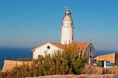 Mallorca, Majorca, Balearic Islands, Spain, Capdepera, lighthouse, cliff, Mediterranean Sea, sunset point. The Capdepera Lighthouse on June 6, 2012. The Royalty Free Stock Image