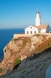 Mallorca, Majorca, Balearic Islands, Spain, Capdepera, lighthouse, cliff, Mediterranean Sea, sunset point. The Capdepera Lighthouse on June 6, 2012. The Royalty Free Stock Photography