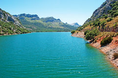 Mallorca, Majorca, Balearic Islands, Spain, Gorg Blau, reservoir, lake, nature. The Gorg Blau reservoir on June 11, 2012. The Gorg Blau was built in 1972 and it Royalty Free Stock Photography