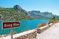 Mallorca, Majorca, Balearic Islands, Spain, landscape, nature. The Gorg Blau reservoir on June 11, 2012. The Gorg Blau was built in 1972 and it works as a Royalty Free Stock Images