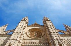 Palma, Mallorca, Majorca, Balearic Islands, Spain, La Seu, cathedral, church, decoration, Saint Mary. La Seu in Palma de Mallorca on June 11, 2012. La Seu is the Royalty Free Stock Photography