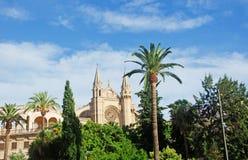 Mallorca, Majorca, Balearic Islands, Spain. La Seu in Palma de Mallorca on June 11, 2012. La Seu is the Cathedral of Santa Maria, finished in 1601 Stock Photos