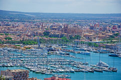 Mallorca, Majorca, Balearic Islands, Spain. Palma seen from Bellver Castle on June 11, 2012. Palma is one of the main tourist centers of all the Balearic Islands Stock Image