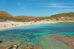 Mallorca, Majorca, Balearic Islands, Spain. Panoramic view of Cala Torta on June 6, 2012. Cala Torta is one of the uncrowded beaches in the northeast of the Stock Photo