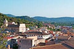 Mallorca, Majorca, Balearic Islands, Spain. A panoramic view of the town of Arta on June 6, 2012. Arta lies in the northeast of the island, around 35 miles from Royalty Free Stock Photos