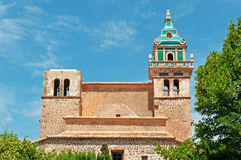 Mallorca, Majorca, Balearic Islands, Spain, the Real Cartuja, Valldemossa, monastery, carthusian, architecture, skyline. The Real Cartuja de Valldemossa on June Royalty Free Stock Photos
