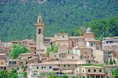 Mallorca, Majorca, Balearic Islands, Spain. The rural town of Valldemossa on June 8, 2012. Valldemossa is one of the prettiest villages in Mallorca: perched on a Stock Photos