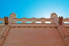 Palma, Mallorca, Majorca, Balearic Islands, Spain, gargoyle, La Seu, cathedral, church, decoration. Spiers and gargoyles on La Seu in Palma de Mallorca on June Stock Images