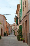 Mallorca, Majorca, Balearic Islands, Spain. A street in the city of Alcudia on June 10, 2012. Alcudia is one of the main tourist centers of the island Royalty Free Stock Photography