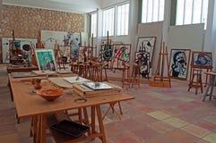 Mallorca, Majorca, Balearic Islands, Spain. The studio Sert of the Pilar and Joan Miró Foundation on June 9, 2012. The Pilar and Joan Miró Foundation is a Stock Image