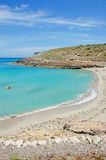 Mallorca, Majorca, Balearic Islands, Spain. View of Cala Torta on June 6, 2012. Cala Torta is one of the uncrowded beaches in the northeast of the island Royalty Free Stock Image