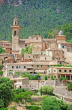 Mallorca, Majorca, Balearic Islands, Spain. A view of the rural town of Valldemossa on June 8, 2012. Valldemossa is one of the prettiest villages in Mallorca Royalty Free Stock Image