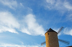 Mallorca, Majorca, Balearic Islands, Spain, windmill. A windmill in the Mallorcan countryside on June 6, 2012 Stock Images