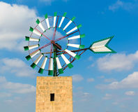 Mallorca Majorca windmill Campos Balearic Island. Mallorca Majorca windmill in Campos Balearic Islands of Spain Stock Photos