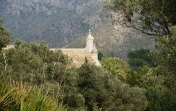 Mallorca Monastery. Hidden in the mountains of northern Mallorca, a Spanish island in the Mediterranean, is an old monastery Stock Photography