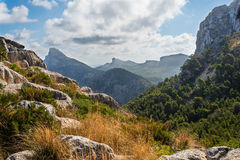 Mallorca mountain view Spain. Mallorca, beautiful mountain view, Spain Royalty Free Stock Photos