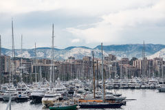 Mallorca Mountains Beyond Marina Stock Photography