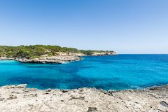Mallorca nationl park Cala Mandrago Royalty Free Stock Photography