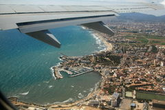 Mallorca onder de vleugel Royalty-vrije Stock Foto's