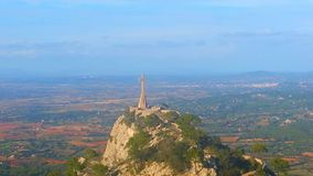 Mallorca-Panorama San Salvador Rock Stockbild