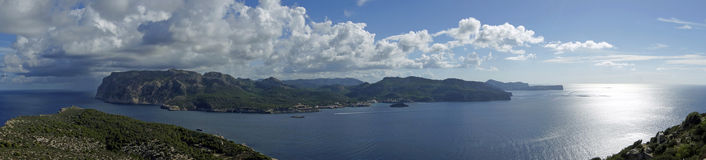 Mallorca - Panoramic. View from the Dragon Island, Mallorca, Spain Royalty Free Stock Photo